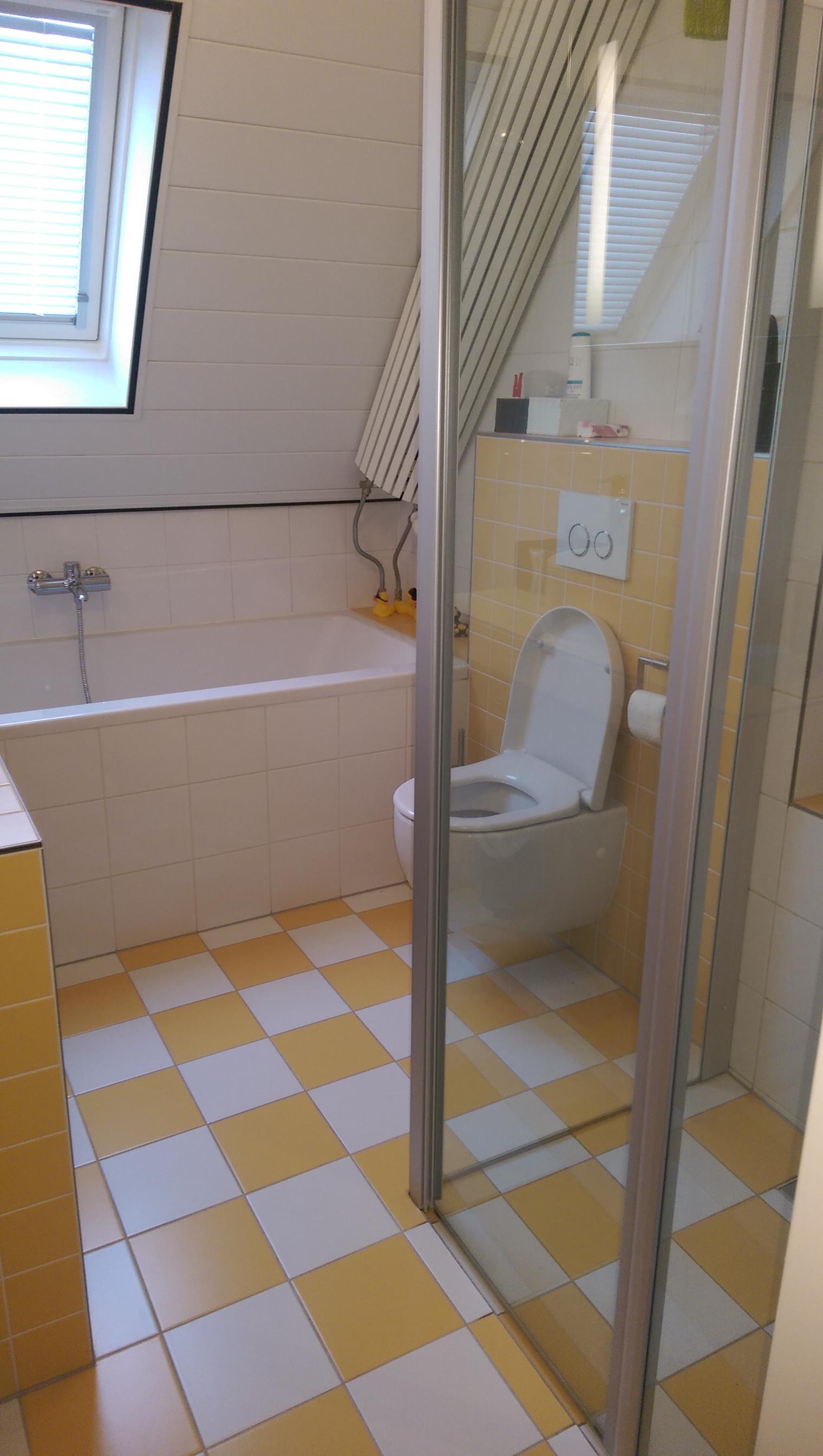 badkamer renovatie Lunteren, januari 2015